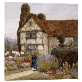 Tableau en verre acrylique  Old Manor House - Helen Allingham