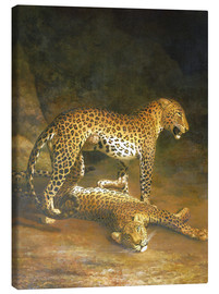 Tableau sur toile  Two Leopards lying in the Exeter Exchange - Jacques Laurent Agasse