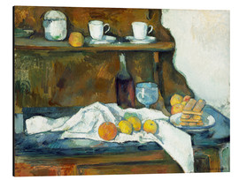 Tableau en aluminium  Le buffet - Paul Cézanne