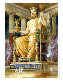 Poster  Statue de Zeus à l'Olympe - English School