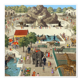 Poster  At the Zoo - Ronald Lampitt