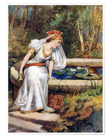 Poster  Le Prince grenouille - William Henry Margetson