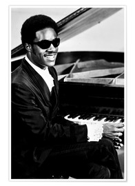 Poster  Stevie Wonder au piano
