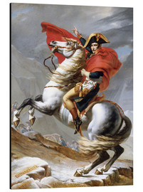 Tableau en aluminium  Bonaparte franchissant le Grand-Saint-Bernard - Jacques-Louis David