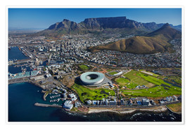 Poster  Cape Town Stadium et Table Mountain - David Wall
