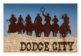 Poster  Cowboys à Dodge City - Walter Bibikow