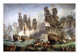 Poster  La bataille de Trafalgar - William Clarkson Stanfield