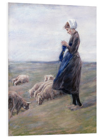 Tableau en PVC  Shepherdess - Max Liebermann