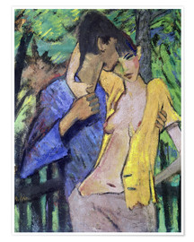 Poster  Couple amoureux, 1919 - Otto Mueller