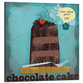 Tableau en aluminium  Chocolate cake can save your life - Elisandra Sevenstar