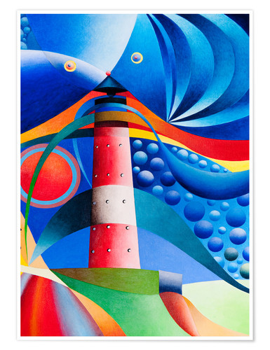 Poster north sea lighthouse hoernum