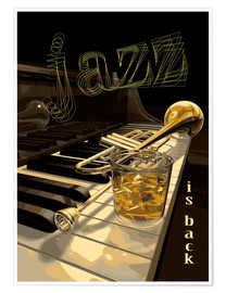 Poster  Jazz is back - colosseum