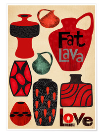Poster Fat Lava Love