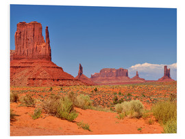 Tableau en PVC  Monument Valley I - Melanie Viola