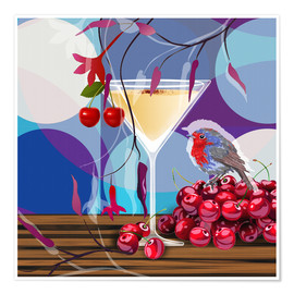 Poster  Vintage Birdy Cocktail IV - Mandy Reinmuth