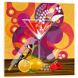 Tableau en verre acrylique  Vintage Birdy Cocktail I - Mandy Reinmuth