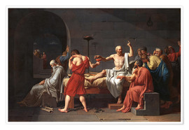 Poster  Mort de Socrate - Jacques-Louis David