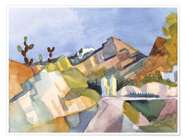 Poster  Paysage rocheux - August Macke