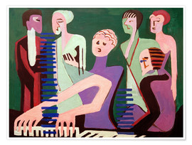 Poster  Chanteur au piano - Ernst Ludwig Kirchner