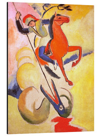 Tableau en aluminium  Saint George - August Macke