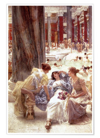 Poster  The Baths of Caracalla - Lawrence Alma-Tadema