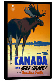 Tableau sur toile  Canada - big game ! - Travel Collection