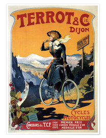 Poster Terrot & Cie Dijon bicycles and motorcycles