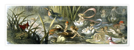 Poster  Water-Lilies and Water Fairies - Richard Doyle