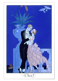 Poster  Oui ! 1921 - Georges Barbier