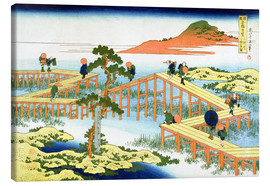 Tableau sur toile  Eight part bridge, province of Mucawa - Katsushika Hokusai