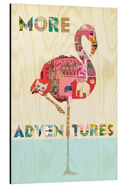 Tableau en aluminium  Collage flamant rose - GreenNest