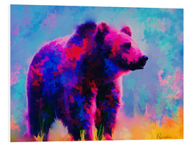 Tableau en PVC  Grizzly Bear - Rosalina Nikolova