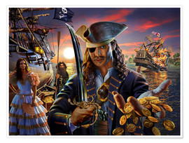 Poster  The pirate - Adrian Chesterman