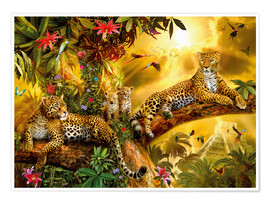 Poster  Jaguars dans la jungle - Jan Patrik Krasny