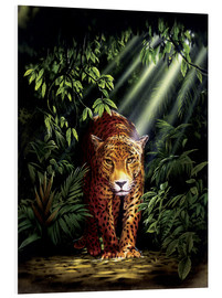 Tableau en PVC  Jungle leopard - Robin Koni