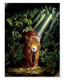 Poster  Jungle leopard - Robin Koni