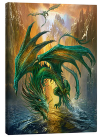 Tableau sur toile  Dragon of the lake - Dragon Chronicles