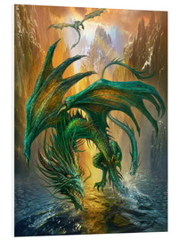 Tableau en PVC  Dragon of the lake - Dragon Chronicles