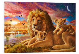 Tableau en PVC  Lion Sunrise - Adrian Chesterman