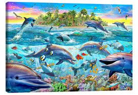 Tableau sur toile  Dolphin Reef - Adrian Chesterman