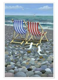 Poster  Chaises longues - Peter Adderley
