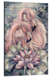 Tableau en aluminium  Flamants roses - Jody Bergsma