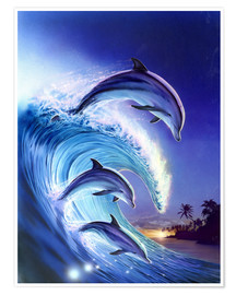 Poster  Surfer sur la vague - Robin Koni