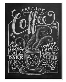 Poster  Premium coffee - Lily & Val