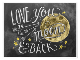 Poster  Love you to the moon and back - Lily & Val