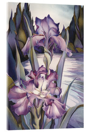 Tableau en verre acrylique  Lady of the lake - Jody Bergsma
