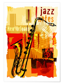 Poster Jazz notes