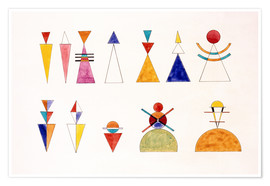 Poster  Dessins d'une exposition, chiffres - Wassily Kandinsky