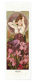 Poster  Améthyste (anglais) - Alfons Mucha