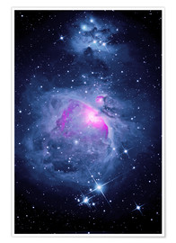 Poster  Orion Nebula M 42 and Running Man Nebula - MonarchC